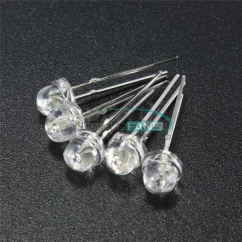 50PCS F5 5mm YELLOW Straw Hat Superbright LED Light LED Lamp MF
