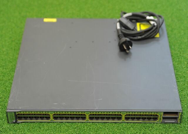 CISCO WS-C3750E-48TD-S 3750E 48xGE Port Network Switch Latest IOS  -1YrWtyTaxInv