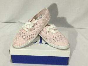 Liz-Claiborne-Ocean-Mist-Pink-Mesh-Lace-Up-Women-s-Shoes-6-5-M-NEW
