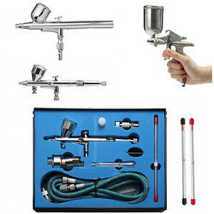Airbrush-Spray-Gun-Dual-Action-Gravity-Air-Brush-Craft-Tattoo-0-2-0-3-0-4-0-5mm