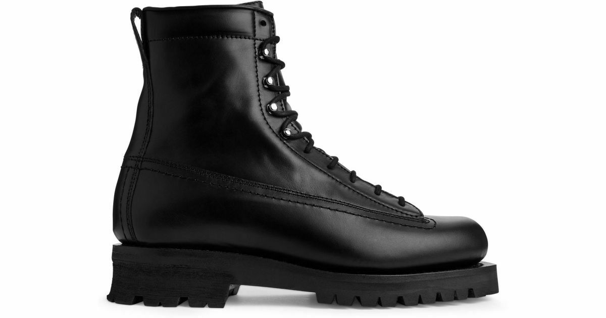 Mens ARKET Lace-Up Boot   Genuine Leather   VIBRAM Commando Outsole     190