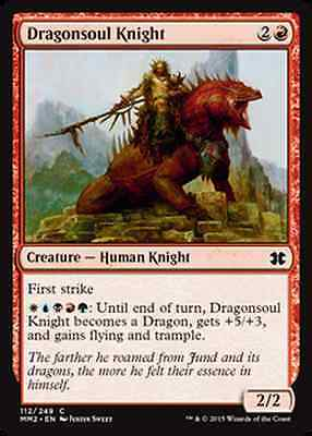 Dragonsoul Knight FOIL Modern Masters 2015 NM Red Common MAGIC CARD ABUGames