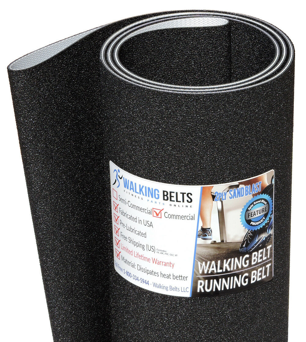 Life Fitness 9100HR SN  349475UP Running Belt 2ply Sand Blast  Free 1oz Lube
