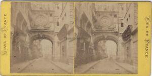 Rouen-Commercio-Francia-Foto-Vintage-Albumina-c1875