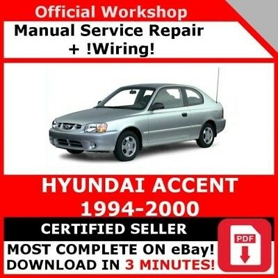 factory workshop service repair manual hyundai accent 1994-2000 +wiring