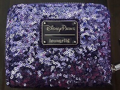 MINNIE MOUSE POTION PURPLE SEQUINED WALLET LOUNGEFLY NWT