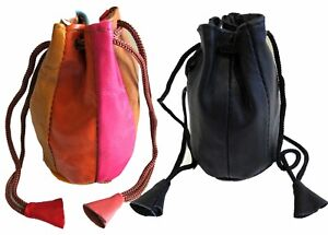 2pc-Pair-Soft-Lambskin-Leather-Coin-Purse-Change-Jewelry-Bags-Drawstring-Closure