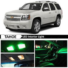 14x Green Interior LED Light Package Kit for 2007-2014 Chevy Chevrolet Tahoe
