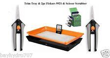 Harvest Kit - Trim Tray / 2pc Fiskars & Scissor Scrubber - SAVE $$ W/ BAY HYDRO