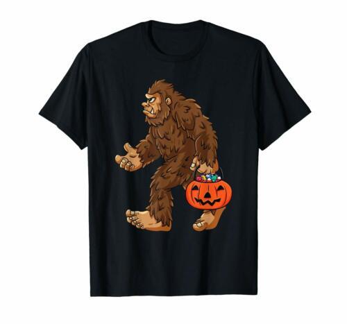 Bigfoot Jack-O/'-Lantern Funny Halloween Candy Sasquatch Black T-shirt S-6XL