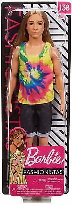 Barbie FASHIONISTA KEN DOLL Tank Top Muscles Beach Surfer Long Blonde Hair #138