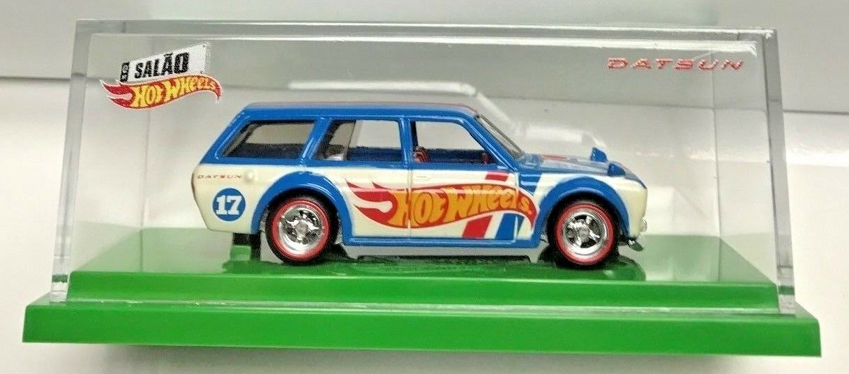 Hot Wheels 2017 Brazil Convention '71 Datsun blueebird blueebird blueebird 510 Wagon RR  'd 544 3000 044939