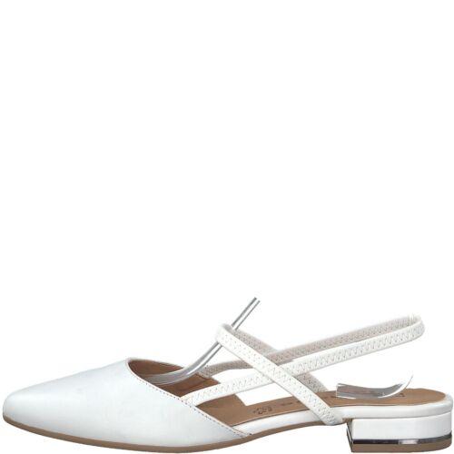 Tamaris Sling Pumps 1-29408-20 Riemchen Damen Schuhe Leder Metallic