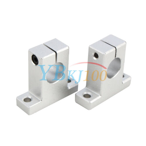 2PCS SK8//10//12//16 Linear Rail Bearing Shaft Guide Support Bracket Clamp Alloy