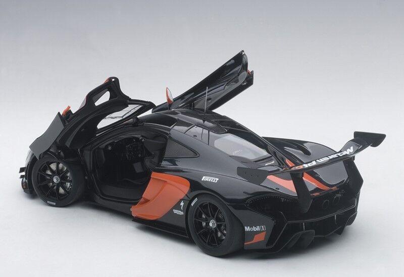 Carart Mclaren P1 GTR Dunkelgrau Metallic   Orange Akzente 2015 1 18 Neu Lager