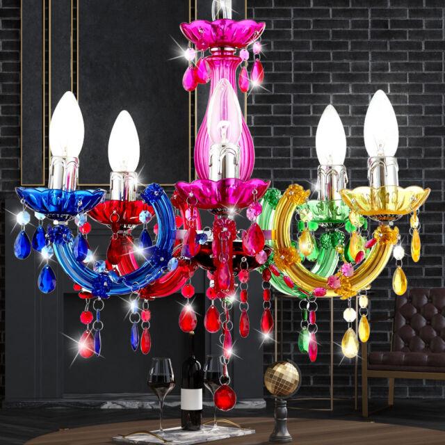 Plafonniers salon lustre lampe pour salle à manger lustre éclairage multicolore