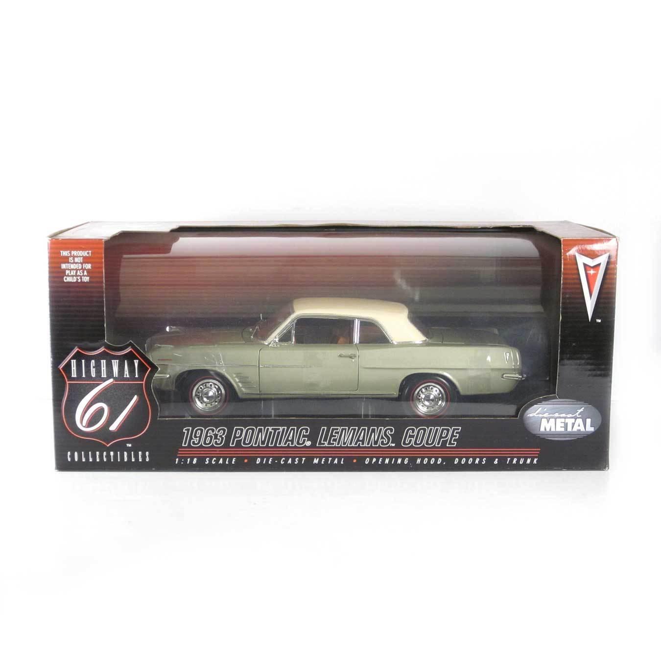con 60% de descuento Highway 61  1963 Pontiac LeMans Coupe (Oliva con Marfil Marfil Marfil Top) escala 1 18  clásico atemporal