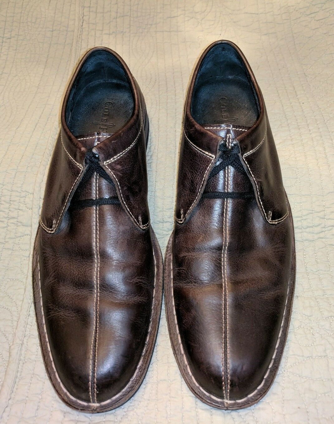 COLE HAAN DARK BROWN LEATHER SPLIT TOE OXFORDS SHOES 11 M MENS BROGUES