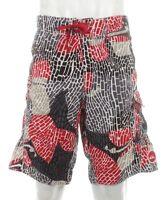 Quiksilver Mens Board Shorts Surf Swim Trunks Beach Short Pants Monochrome Sz M
