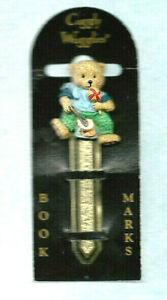 Bookmark-Gold-Metal-Teddy-Bear-Honey-Ball-Books-Lover-Clip-Souvenir-Gift-Him-Her