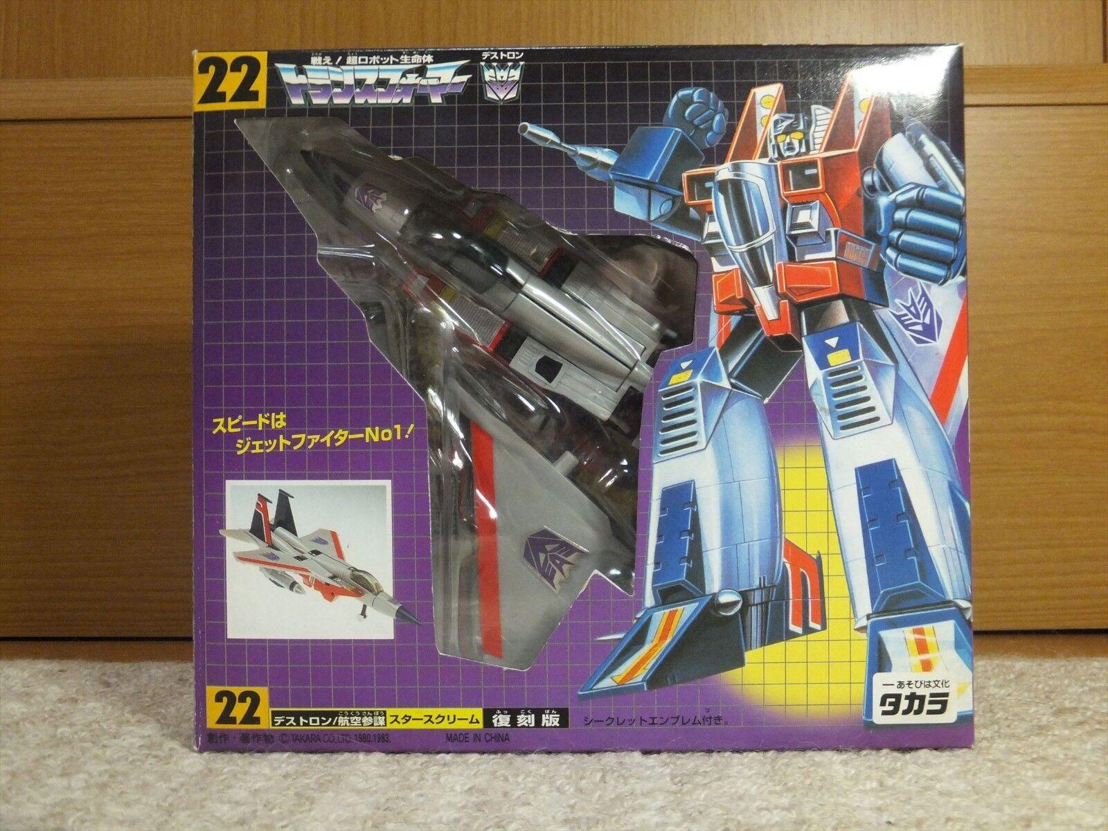 Transformers G1 DESTRON STARSCREAM TAKARA