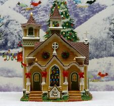 "LEMAX CHRISTMAS VILLAGE ""FAITH CHAPEL"" ***EX COND***ORIG BOX**"