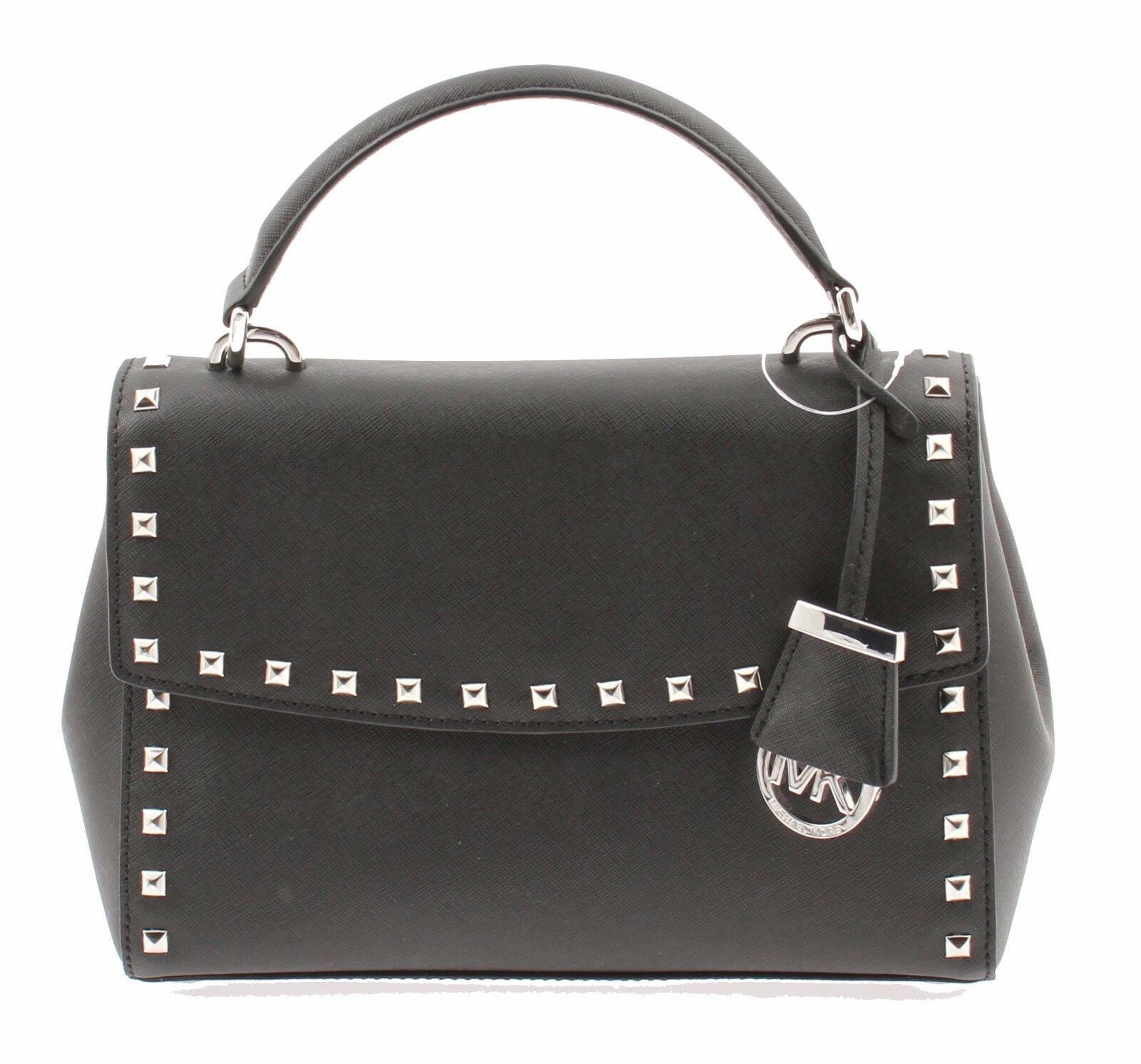 037c2e15a15bc Michael Kors Ava Stud 30t6sa6s1l Black Small Satchel Leather Bag ...