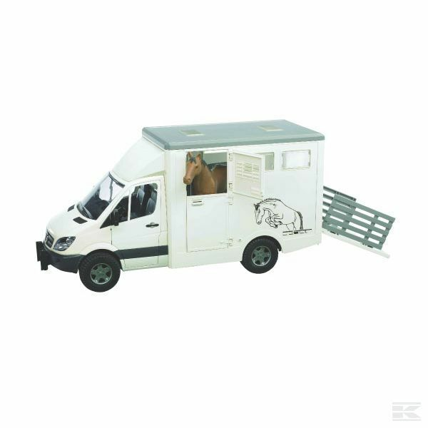 Bruder Mercedes Sprinter Horsebox With Horse 1 16 Scale Model