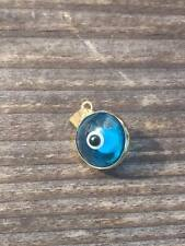 14k Yellow Gold evil eye charm - solid gold - 585 - REDUCED TO CLEAR