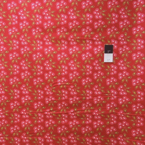 Dena Designs PWDF157 Love /& Joy Cherry Red Cotton Fabric By Yard