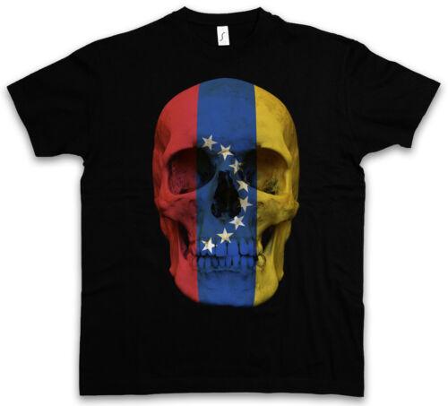 Classic venezuela skull Flag t-shirt-tete de mort crâne bannière Biker MC