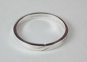 Sterling-Silver-Flat-Wire-Split-Ring-Key-Ring-32mm-Made-in-USA-Free-US-Shipping