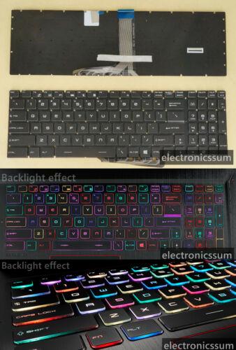 RGB Backlit US UI Keyboard for MSI GE73 7RC 7RD GE73VR 7RE 7RF Raider MS-17C3