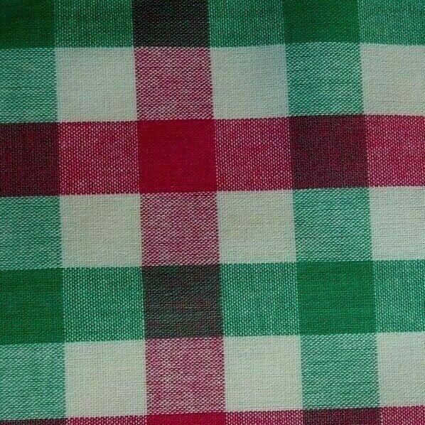 Green Pink Plaid Cotton Pocket Square