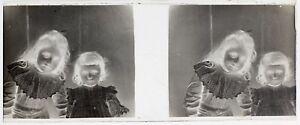 Bambini Ragazzina Modalità Foto Placca Da Lente Stereo Negativo Vintage LG2