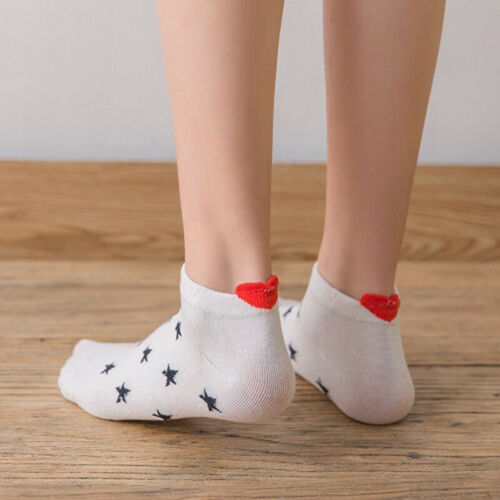 5Pairs Multicolor Men Polyester Short Ankle Socks Low Cut Father/'s Day Gift