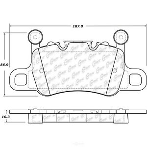 Disc Brake Pad Set-Posi-Quiet Metallic Disc Brake Pad with Shims Rear,Front