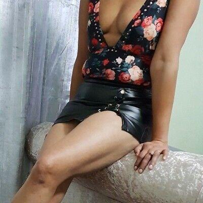 "Rose court Mini-jupe femme femmes taille haute Girls Just 8/"" Bandage 6-24"