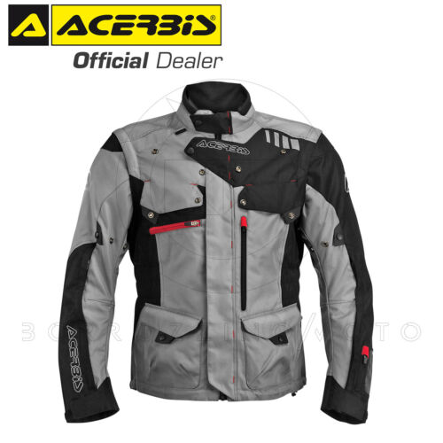 ENDURO TOURING NERO//GRIGIO TG XL GIACCA TECNICA MOTO ACERBIS ADVENTURE TURISMO
