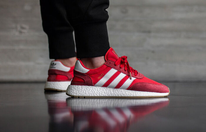 Adidas INIKI Runner size 7.5. Red White Gum. BB2091. nmd ultra boost pk