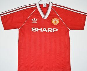 size 40 766da 4f65b Details about 1988-1990 MANCHESTER UNITED ADIDAS HOME FOOTBALL SHIRT (SIZE  L)