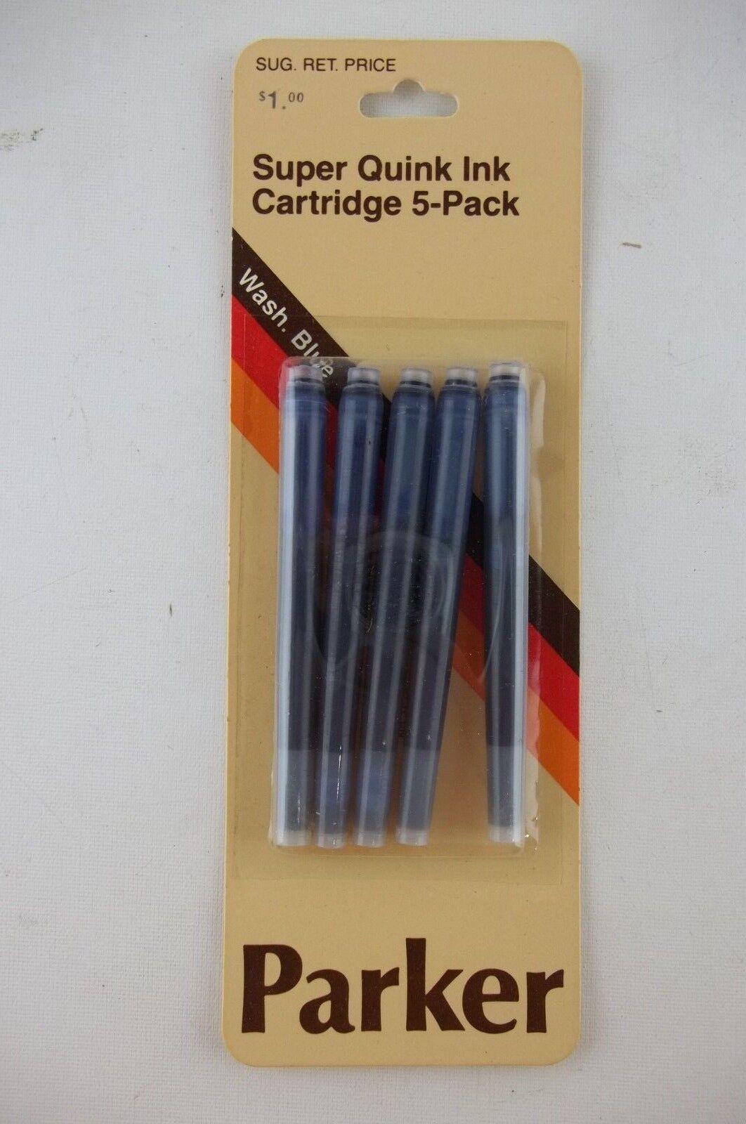 Pack of 5 Cartridges 30130 Parker Quink Vintage Permanent Ink Cartridges Red