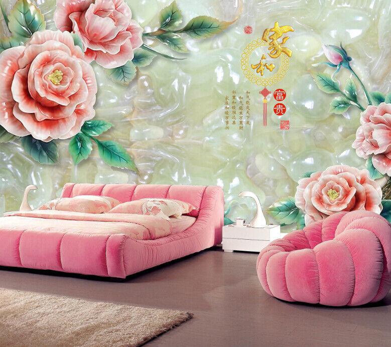 3D Jade Rosa Blaume 834 834 834 Tapete Wandgemälde Tapete Tapeten Bild Familie DE Summer | Preiszugeständnisse  |  fac203