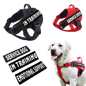 Service-Dog-No-Pull-Harness-Reflective-Pet-Puppy-Walking-Handle-Vest-amp-Patches