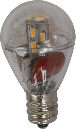 LED S8 E12 110VAC Omni Bulb Clear Cover