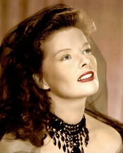 "KATHARINE HEPBURN SONG OF LOVE 1947 ACTRESS 8x10"" HAND COLOR TINTED PHOTOGRAPH"
