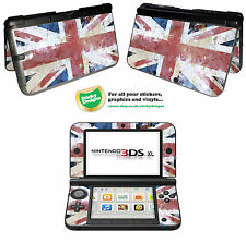 GB - Union Jack Flag  - Grunge Style Vinyl Skin Sticker for Nintendo 3DS XL
