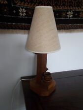 OAK PUMP BARREL WELL  LAMP HAND MADE  ART DECO STYLE VINTAGE ART AND  CRAFTS