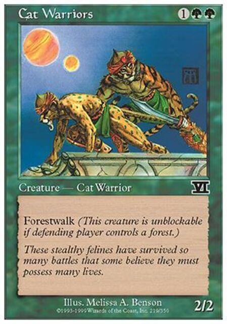 MTG Magic - (C) 6th Edition - Cat Warriors - SP