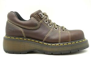 dr martens airwair brown leather casual lace up oxfords